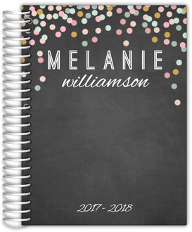 Chalkboard Colorful Confetti Weekly Planner 6x8