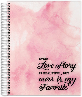8.5x11Watercolor Love Story Planner
