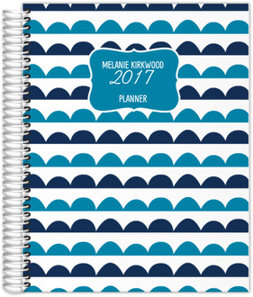 Scallop Doodle Pattern Planner 8.5x11