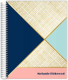 Gold Geometric Pattern Weekly Planner 8.5x11