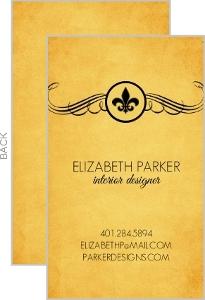 Rustic Fleur De Lis Business Card