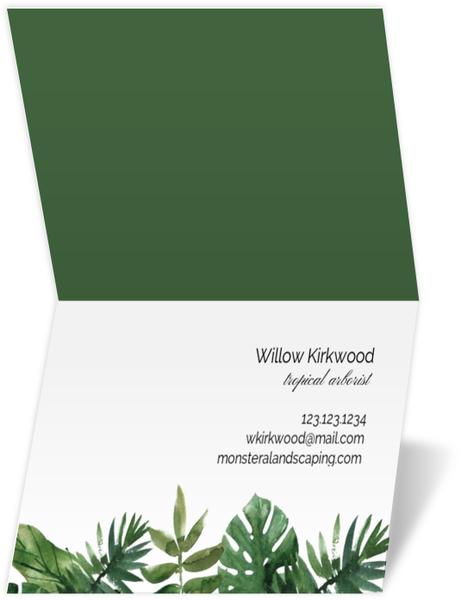 Blue Modern Arrow Business Card