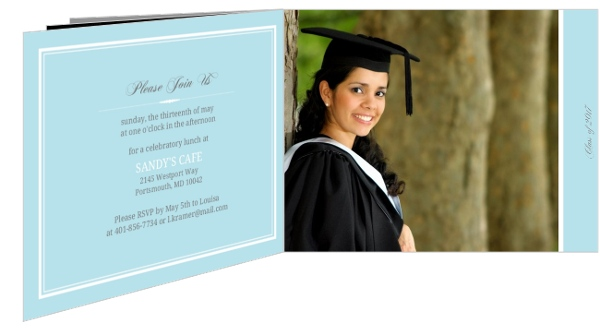 chalkboard and blue law school graduation invitation - Law School Graduation Invitations