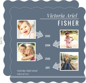 Blue Timeline Graduation Announcement