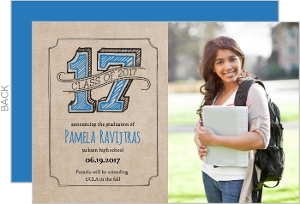 Rustic Kraft Graduation Photo Announcement