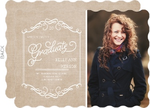 Kraft Whimsy Frame Graduation Announcement