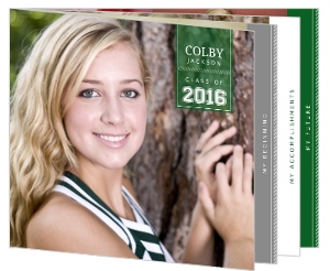 Simple Green Modern Lines Graduation Announcement
