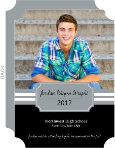 Regal Black Graduation Announcements