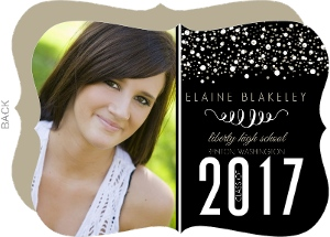 Gold Glitter Graduation Announcement