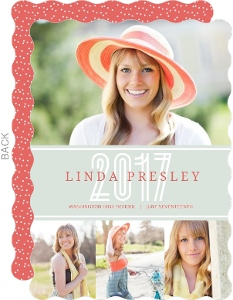 Light Green and Coral Graduation Announcement