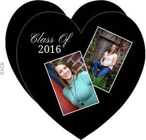 Black Heart Graduation Announcement