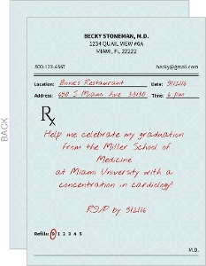 Prescription Medical School Graduation Invitation