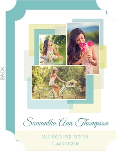 Blue and Yellow Block Graduation Announcement