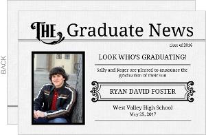 Graduation Announcement Vintage Graduate Newsletter