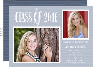 Whimsical Stripes Graduation Announcement