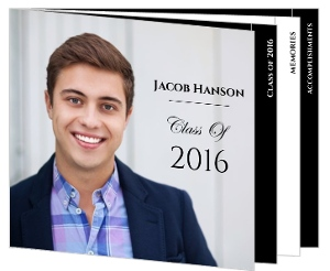 Classic Black and White Graduation Announcement