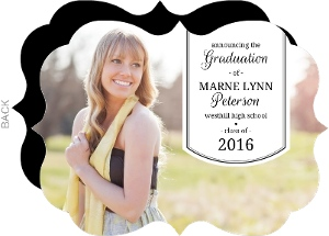 Simple Banner Graduation Announcements