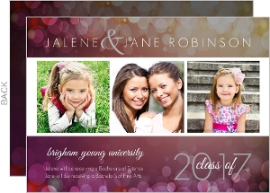 Through the Years  Graduation Announcement