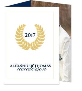 Gold Seal Graduation Announcement