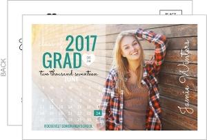 Bold Typography Calendar Graduation Announcement