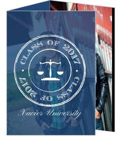 Navy Grunge Scale Monogram Law Graduation Invitation