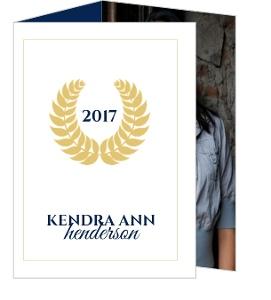 Gold Law Monogram Graduation Announcement