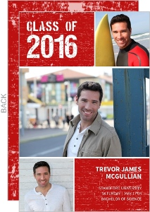 Red Rugged Graduation Announcement