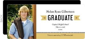Modern Gold Banner Graduation Announcement