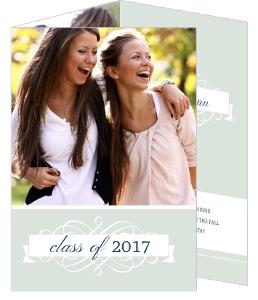 Soft Green Graduation Announcement
