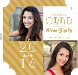 Gold Stripes Graduation Announcements