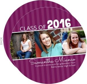 Purple Stripes Graduation Announcement