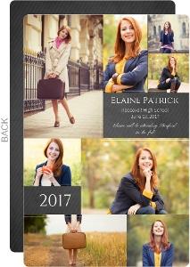 Chalkboard Collage Graduation Announcement