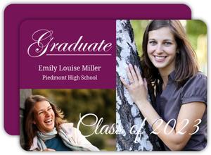Simple Purple Graduation Announcement