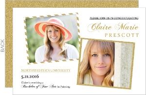 Gold Glitter Showcase Graduation Announcement