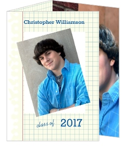 Graph Paper Graduation Announcement