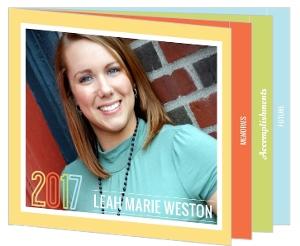 Pastel Colors Graduation Announcement