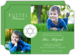 Modern Stripes Bar Mitzvah Invitation