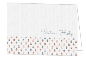 Muted Triangle Pattern Graduation Thank You Card