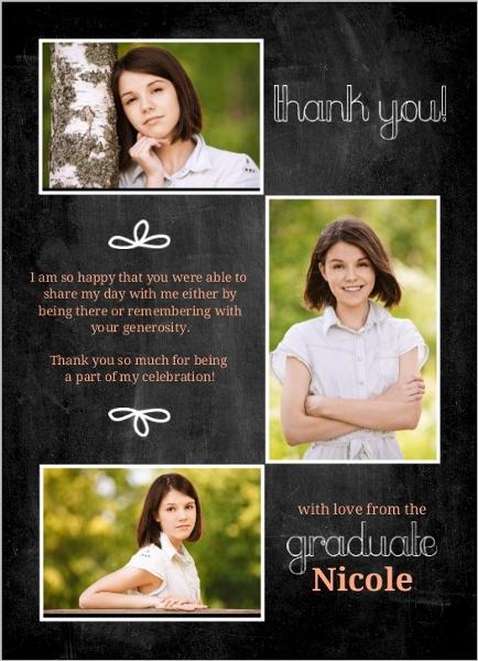 sample graduation thank you letter