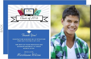 Tech Savvy Graduation Thank You Card