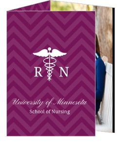 Purple RN Doctor Graduation Thank You Card