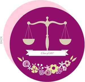 Law Graduation Announcement Floral Balance
