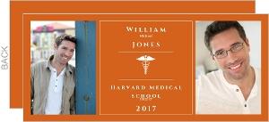 Orange and White Medical School Graduation Announcement