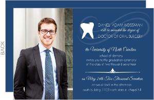 Navy Blue Dental School Graduation Invitation