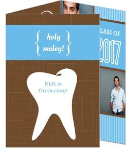 Graduation Invitation Holy Moley Tooth