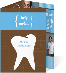 Graduation Invitation Holy Moley Tooth