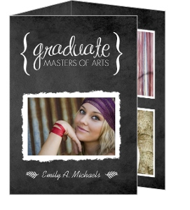 tri fold graduation announcements - Tri Fold Graduation Invitations