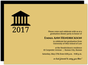 law school graduation invitations - Invitation For Graduation