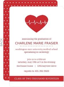 Heart Rate Med School Grad Invite