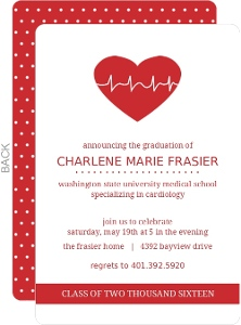 Heart Rate Med School Grad Invite